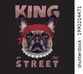 bulldog vector illustration....   Shutterstock .eps vector #1990214471