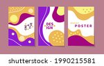 set of boho posters with... | Shutterstock .eps vector #1990215581