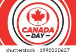 happy canada day. national...   Shutterstock .eps vector #1990220627