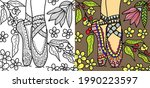 doodle belly dancing colouring... | Shutterstock .eps vector #1990223597