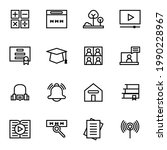 vector set of education icons....   Shutterstock .eps vector #1990228967