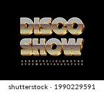 vector event flyer disco show....   Shutterstock .eps vector #1990229591