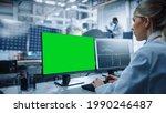 Female Engineer Uses Green...
