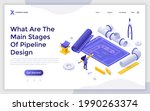 landing page template with... | Shutterstock .eps vector #1990263374
