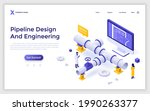 landing page template with... | Shutterstock .eps vector #1990263377