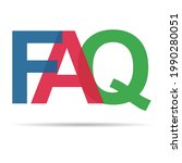 faq  frequently asked questions ... | Shutterstock .eps vector #1990280051