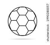 soccer  football ball symbol ... | Shutterstock .eps vector #1990280057