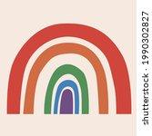 rainbow bright icon on the...   Shutterstock . vector #1990302827