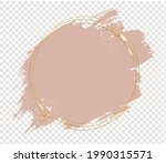 pink paint with golden frame...   Shutterstock .eps vector #1990315571