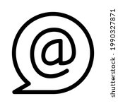 email icon or logo isolated...