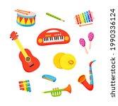vector set of kids musical... | Shutterstock .eps vector #1990336124