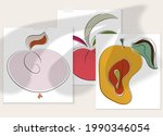 abstract hand drawn vector...   Shutterstock .eps vector #1990346054