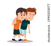 A Boy Helps His Injured Friend...