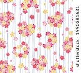 heart shaped cherry blossom... | Shutterstock .eps vector #1990381631