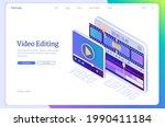video editing banner. software...   Shutterstock .eps vector #1990411184