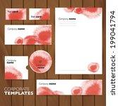 corporate identity business set ... | Shutterstock .eps vector #199041794