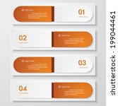 design clean number banners... | Shutterstock .eps vector #199044461