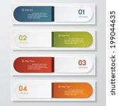 design clean number banners... | Shutterstock .eps vector #199044635