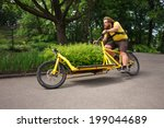 Bicycle Messenger With Cargo...