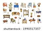 set of home furniture  interior ... | Shutterstock .eps vector #1990517357