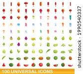 100 universal icons set.... | Shutterstock .eps vector #1990540337