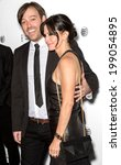 Small photo of NEW YORK, NY - APRIL 24: Producer Gabriel Cowan (L) and director - actress Courteney Cox attend the premiere of 'Just Before I Go' during the 2014 Tribeca Film Festival at SVA Theater