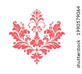damask graphic ornament. floral ... | Shutterstock .eps vector #1990579064