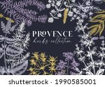 traditional provence herbs...   Shutterstock .eps vector #1990585001