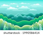 Hills  Mountains Landscape In...
