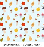 seamless autumn background with ... | Shutterstock .eps vector #1990587554