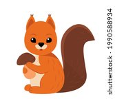 cute squirrel character holding ... | Shutterstock .eps vector #1990588934