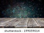 rustic wooden boards and bokeh... | Shutterstock . vector #199059014