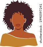 black african woman portrait... | Shutterstock .eps vector #1990597241