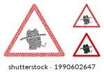 mosaic smoker warning icon...   Shutterstock .eps vector #1990602647