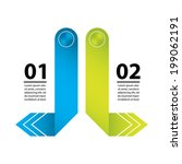 abstract origami speech bubble... | Shutterstock .eps vector #199062191
