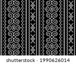 slovak tribal folk art vector... | Shutterstock .eps vector #1990626014