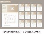 2022 calendar design with frame | Shutterstock .eps vector #1990646954