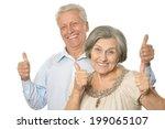 senior couple showing ok thumbs ... | Shutterstock . vector #199065107
