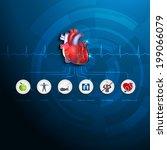 healthy heart info graphic....   Shutterstock .eps vector #199066079