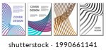 a set of 4 abstract covers.... | Shutterstock .eps vector #1990661141