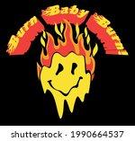 retro distorted melting burning ... | Shutterstock .eps vector #1990664537