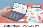 visualize with business... | Shutterstock .eps vector #1990665191
