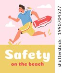 Safety On The Beach Banner...