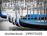 gondolas in venice italy | Shutterstock . vector #199073105