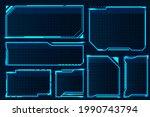 hud box. abstract game screen...