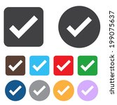 check sign icon. yes button.... | Shutterstock .eps vector #199075637