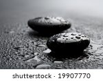 Black Shiny Zen Stones With...