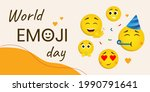 banner with world emoji day... | Shutterstock .eps vector #1990791641