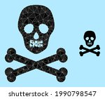 lowpoly death skull icon on a...   Shutterstock .eps vector #1990798547