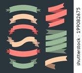 vector set of ribbons in flat... | Shutterstock .eps vector #199082675